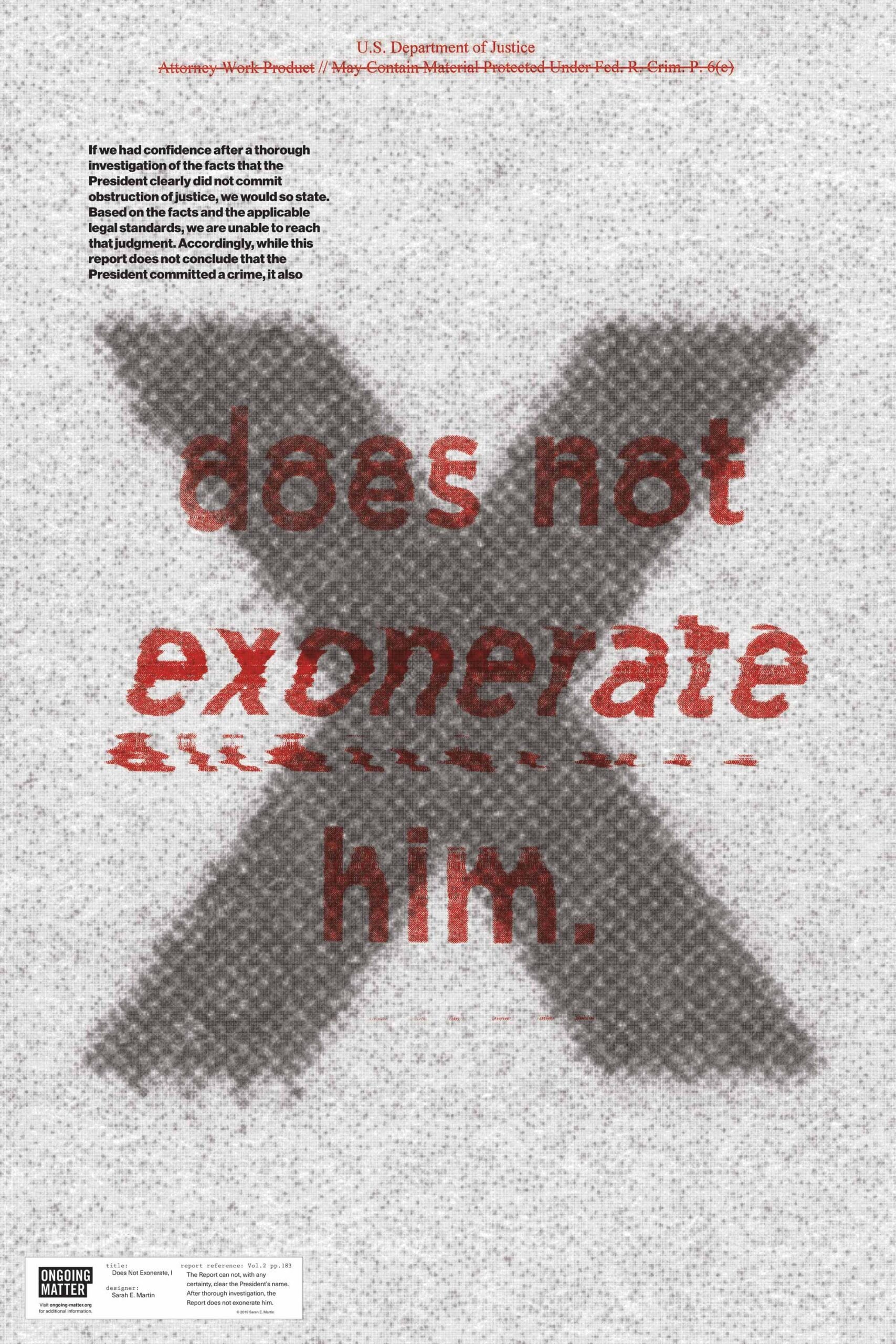 Does Not Exonerate I by Sarah Martin
