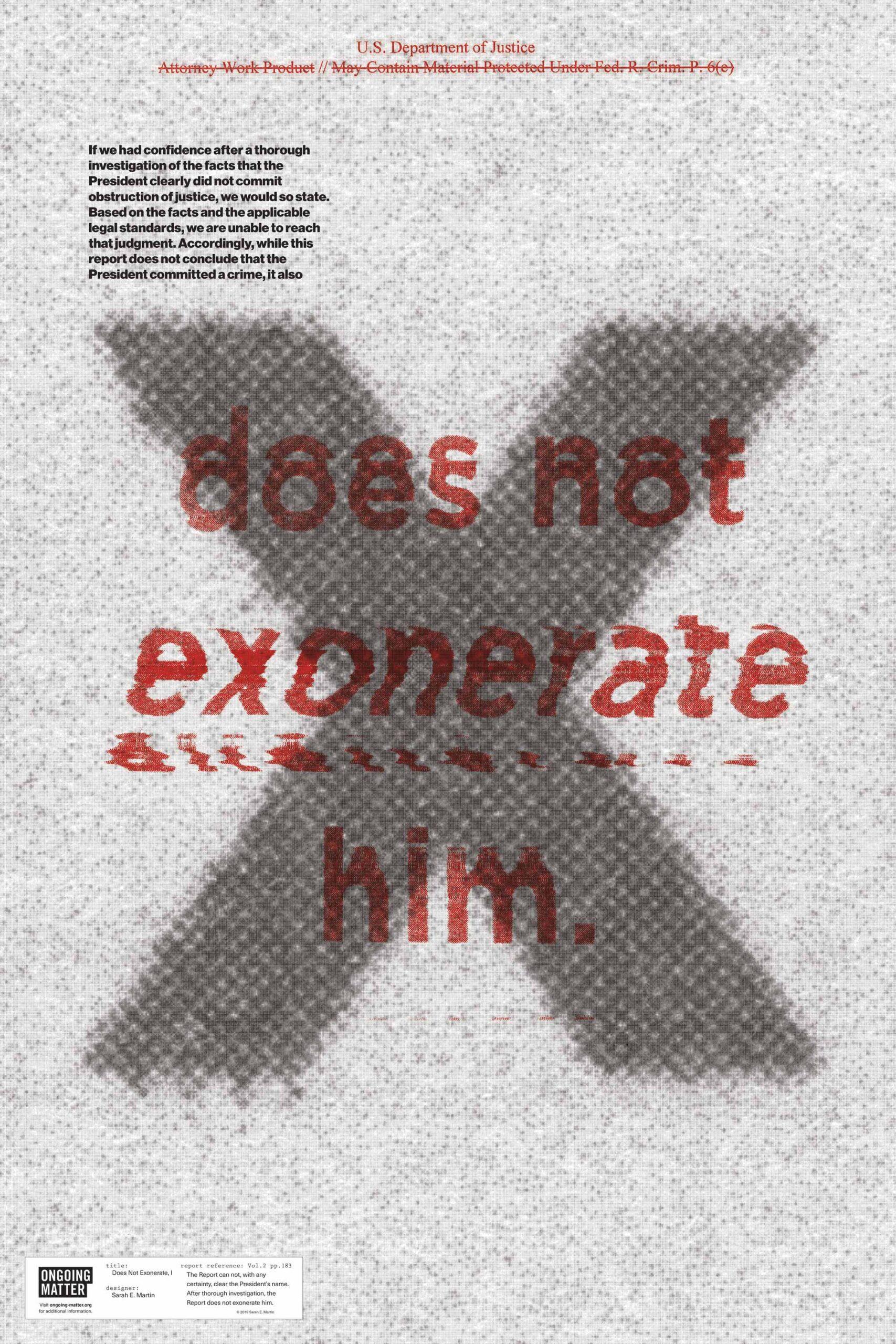 Does Not Exonerate, I